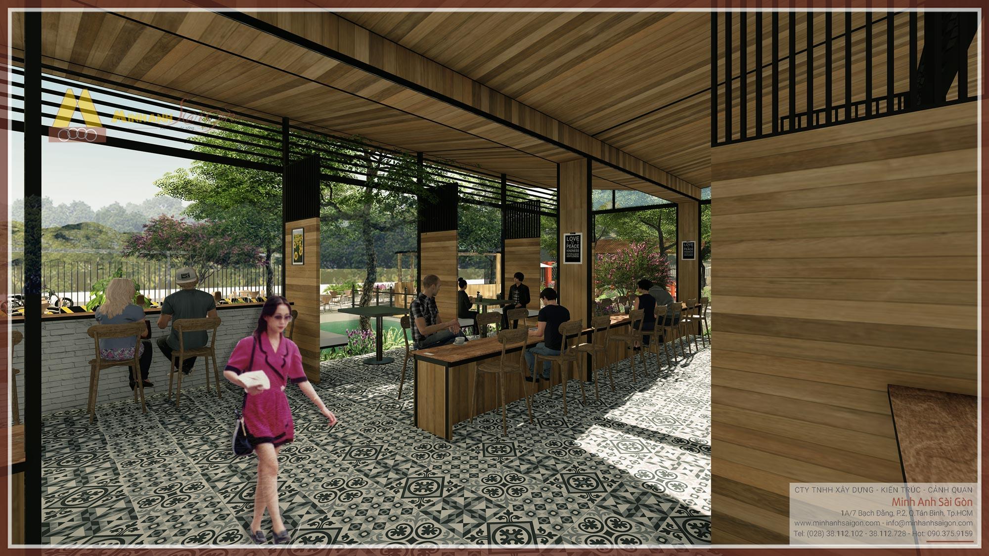 Cafe sân vườn Hương Đồng Nội
