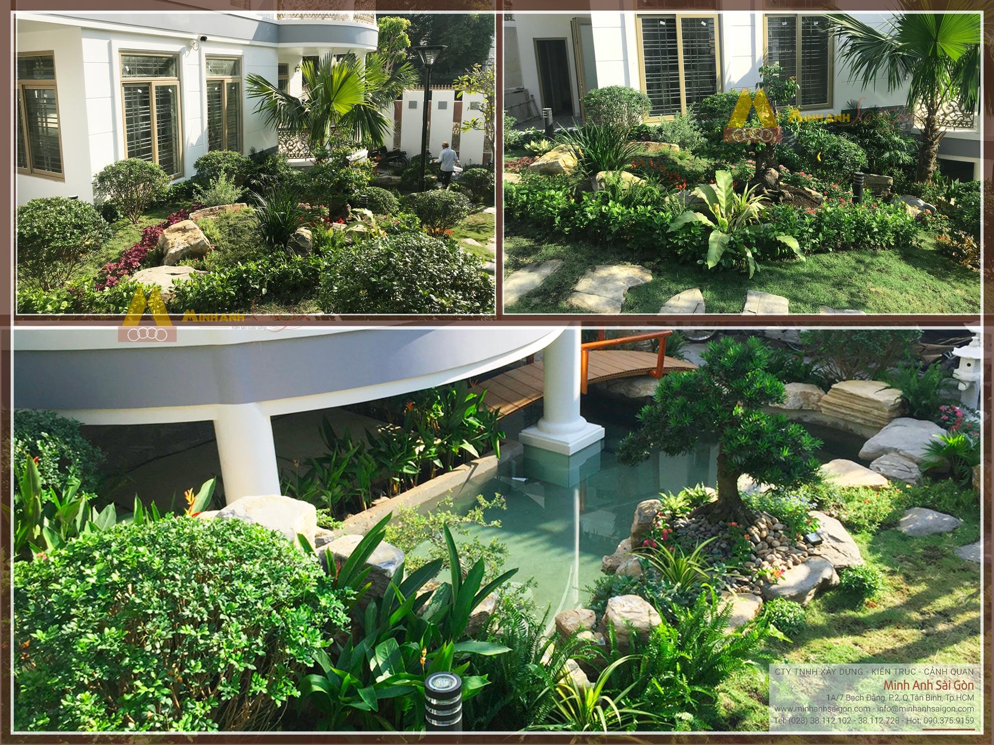 Sân vườn biệt thự chị Thi