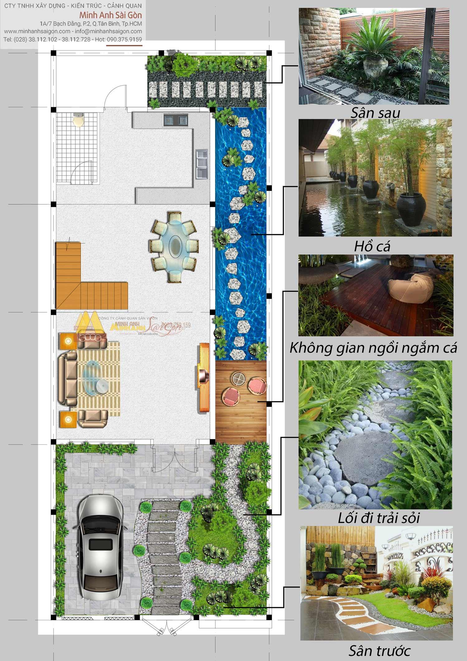 Sân vườn biệt thự Long Thành