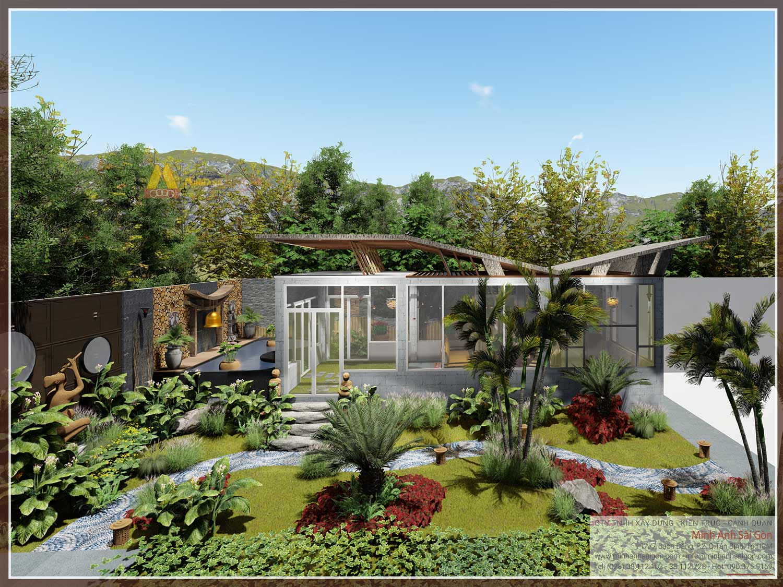 Ý tưởng thiết kế sân vườn biệt thự đẹp